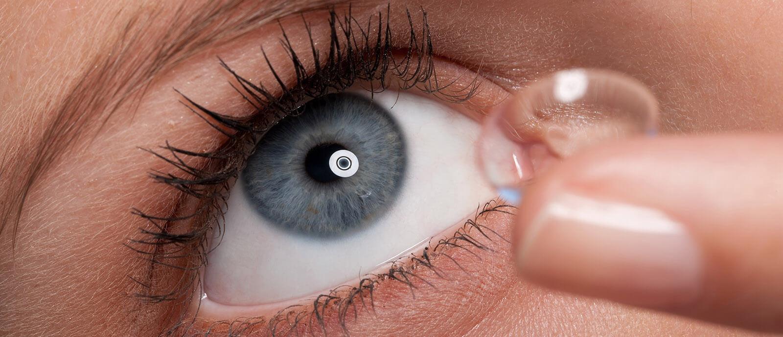 Contact lens application.