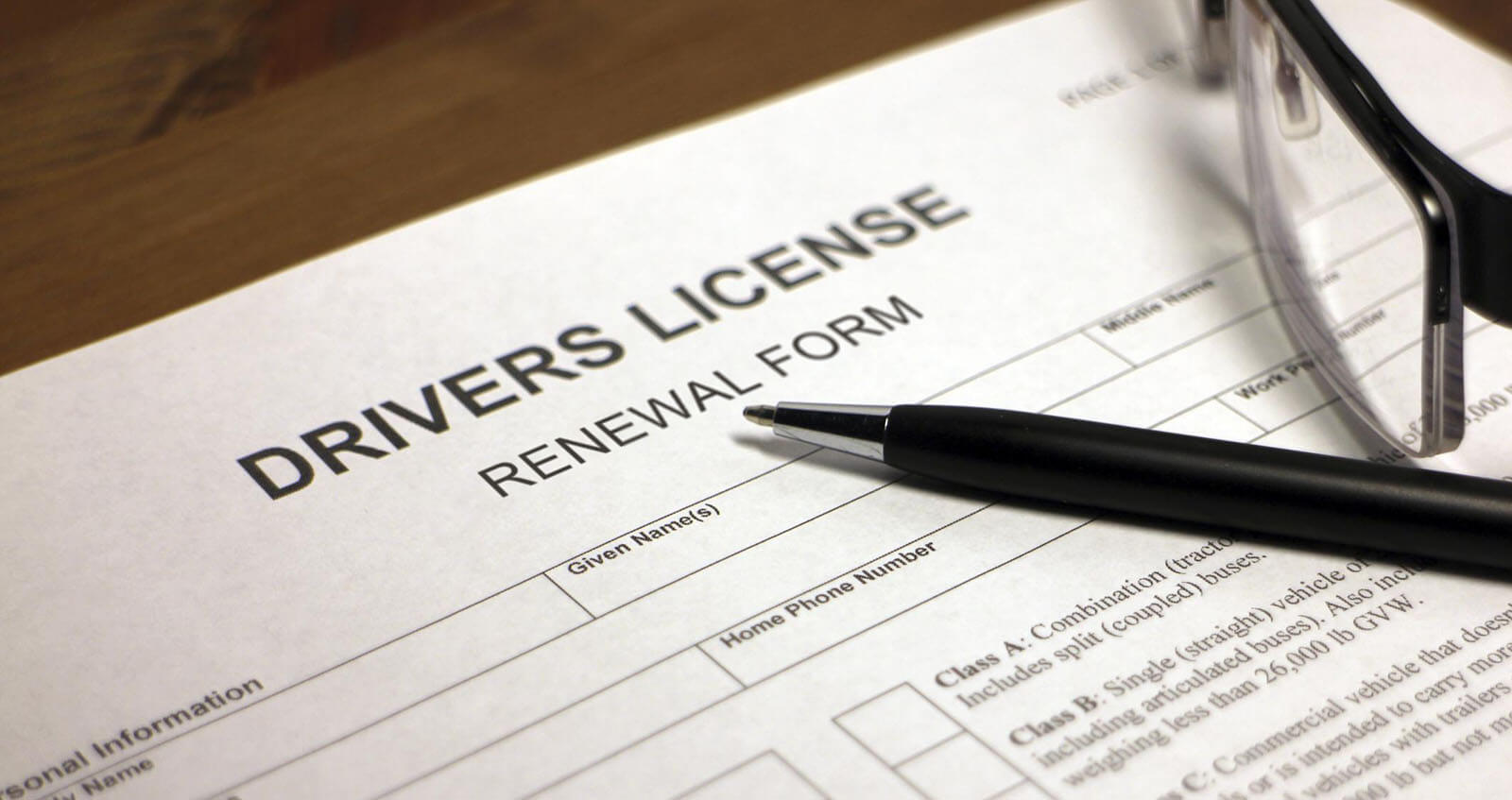 DMV Driver's License Renewal Form